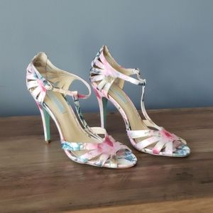 Betsey Johnson Floral Heels